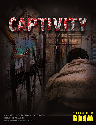 Poster for the Captivity Locked Room Located at the Calgary SE Branch