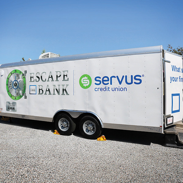 Servus Custom Locked Room Mobile Escape Trailer